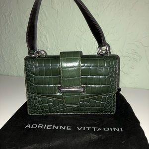 Adrienne Vittadini Leather croc embossed purse